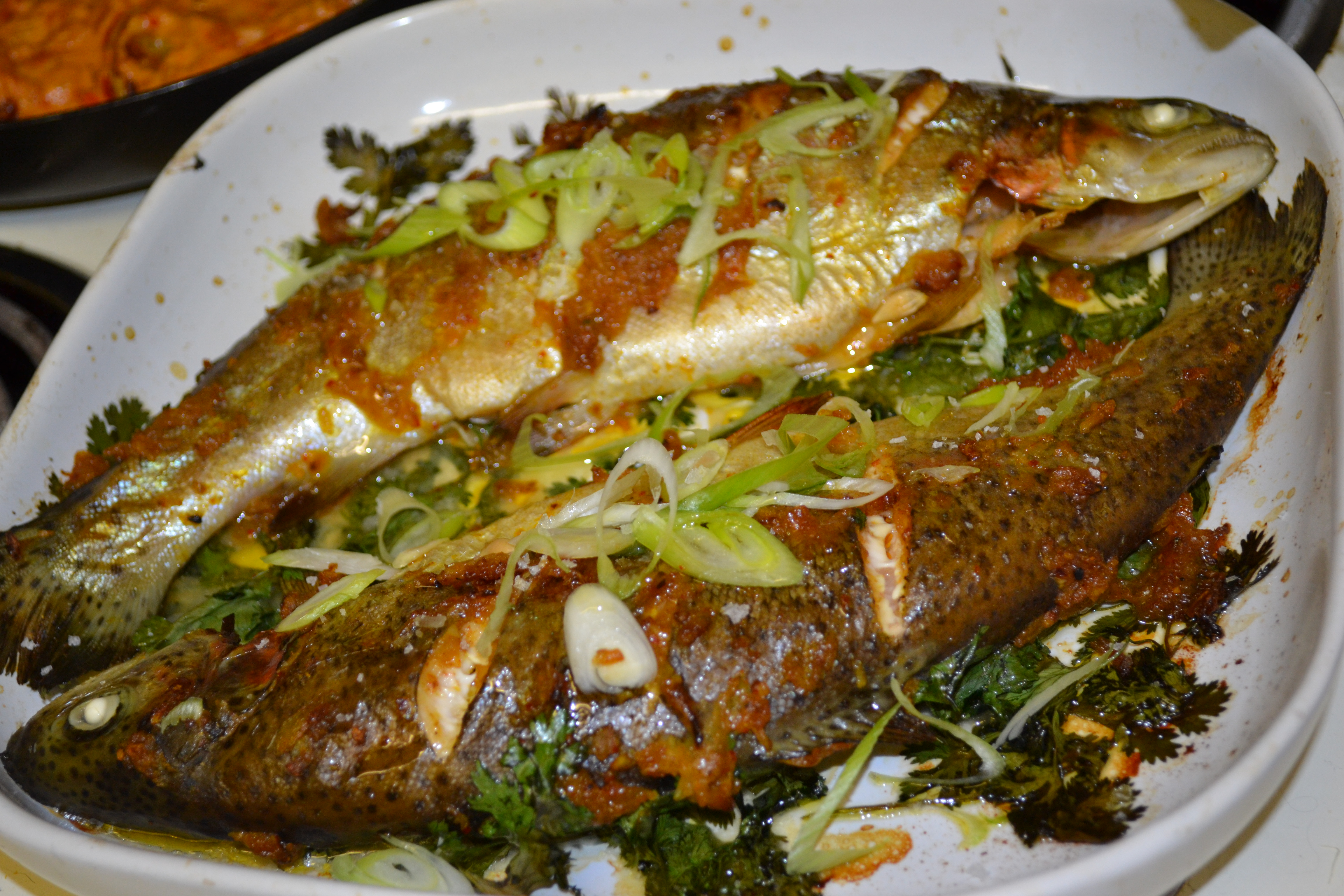 Moroccan style roasted fish susan eats london for Susan s fish and chips