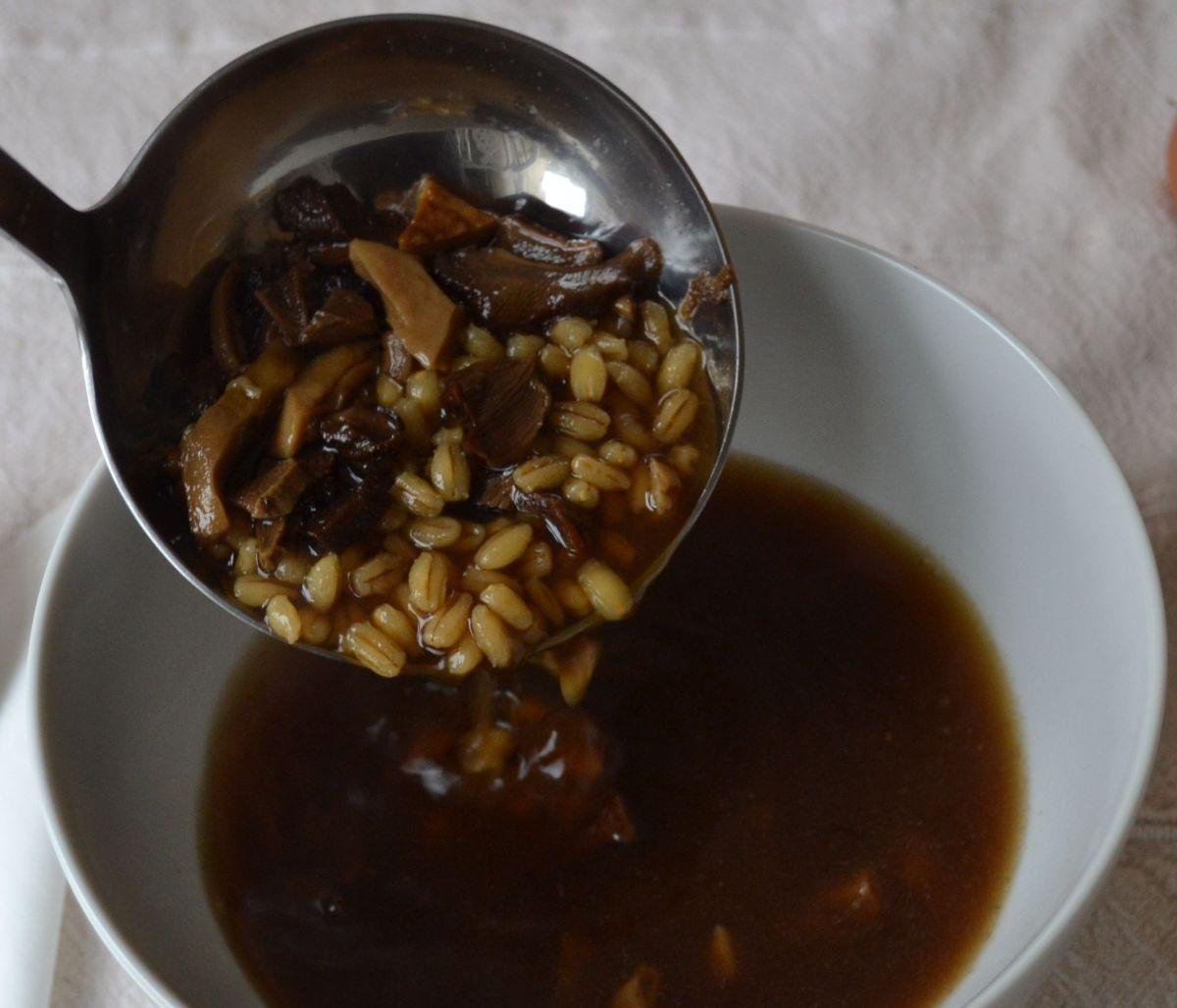 Polish Mushroom Barley Soup (Krupnik)