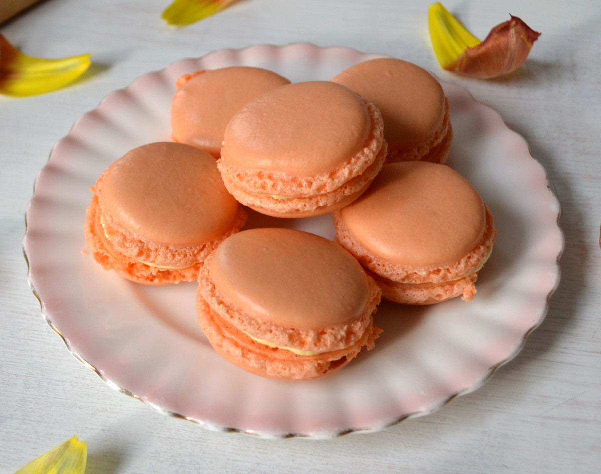 Orange Blossom-Saffron-Vanilla Macarons