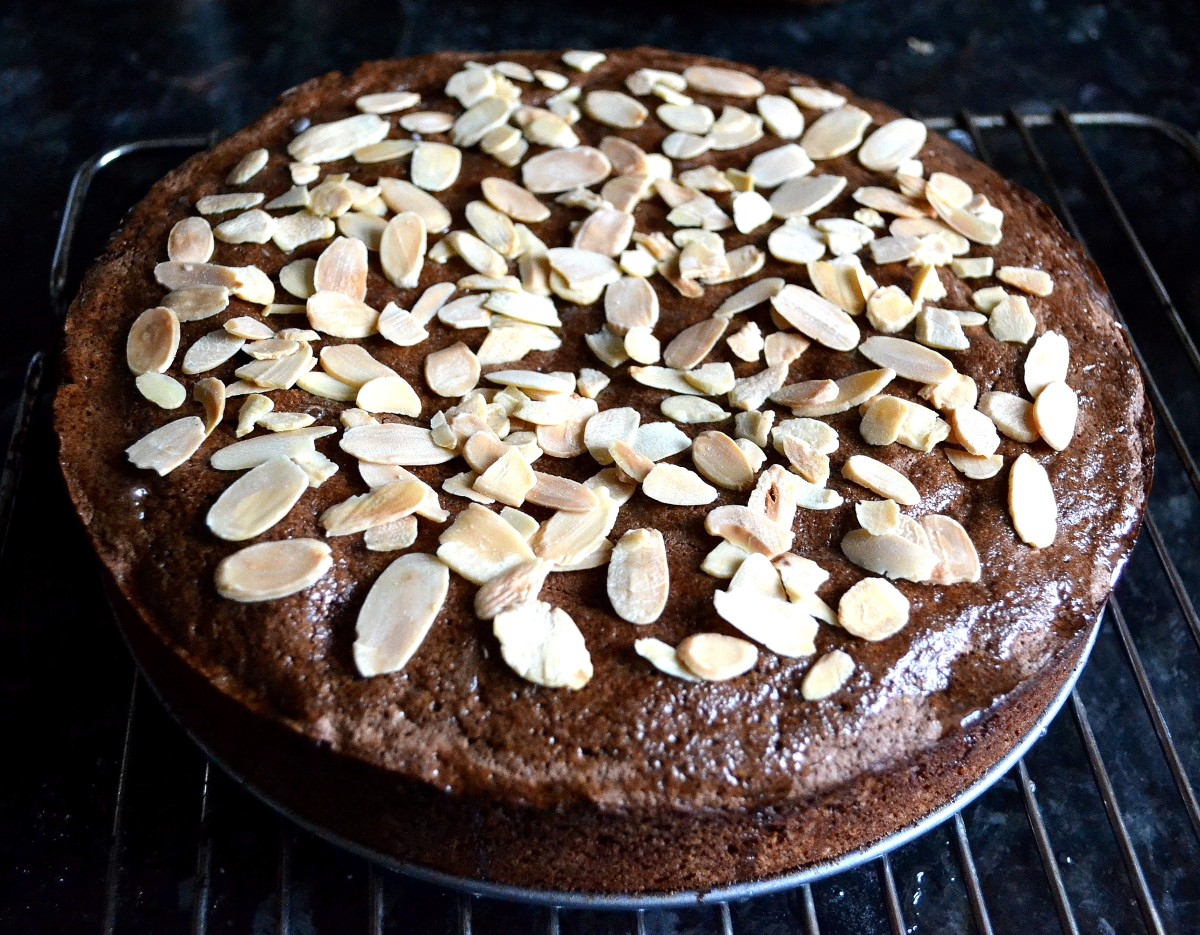 Chocolate Almond Lime Semolina Cake