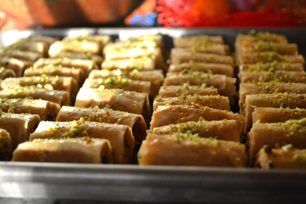 Pistachio and Cashew Baklava Fingers